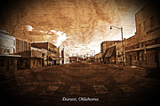 Small Towns Metal Prints - The New Old West - Durant Oklahoma Metal Print by Robyn Stacey