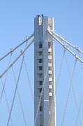 The New San Francisco Oakland Bay Bridge 7d25449 Print by Wingsdomain Art and Photography