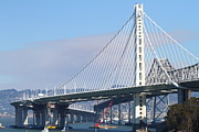Bay Bridge Prints - The New San Francisco Oakland Bay Bridge 7D25464 Print by Wingsdomain Art and Photography