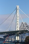 Bay Bridge Art - The New San Francisco Oakland Bay Bridge 7D25468 by Wingsdomain Art and Photography