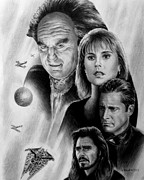 Science Fiction Drawings Metal Prints - The new world Metal Print by Andrew Read