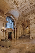 Librarian Prints - The New York Public Library Astor Hall Print by Susan Candelario