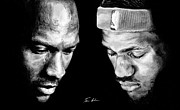 Michael Jordan Drawings - The Next One by Tamir Barkan