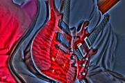 Lebron Metal Prints - The Next Red Thing Digital Guitar Art by Steven Langston Metal Print by Steven Lebron Langston