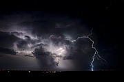 Photographer Lightning Photo Prints - The Night Lives Print by Ryan Smith