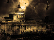 Halls Posters - The Night The Vultures Returned To San Francisco City Hall 5D22510 Poster by Wingsdomain Art and Photography