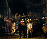 Banquet Digital Art Prints - The Night Watch Print by Rembrandt van Rijn