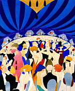 Sepia Drawings Prints - The Nightclub 1921 Print by Padre Art