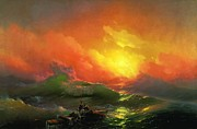Ropes Paintings - The Ninth Wave 1850 by Aivazovsky by Movie Poster Prints