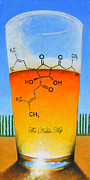Molecule Paintings - The Noble Hop by Glenn Ruthven