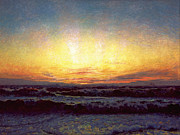 Laurits Tuxen - The North Sea in stormy weather. After sunset. Hojen by Laurits Tuxen
