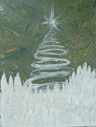 Snow-covered Landscape Originals - The North Star by Mj Deen