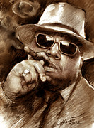 Hip Hop Drawings Posters - The Notorious B.I.G. Poster by Viola El