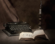 Typewriter Keys Photo Posters - The Novelist Still Life Poster by Tom Mc Nemar
