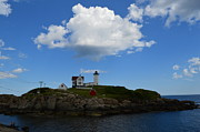 Nubble Lighthouse Framed Prints - The Nubble at Cape neddick Framed Print by Ross Therrien