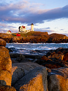 Steven Ralser Posters - The Nubble Lighthouse Poster by Steven Ralser