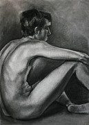 Boy And Girl Drawings - The Nude Sitter by Ian Oliver
