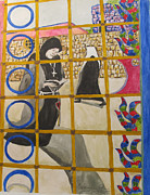 Nuns Paintings - The Nuns by Esther Newman-Cohen