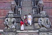 Religious Art Photos - The Nyatapola Temple at Bhaktapur in Nepal by Robert Preston