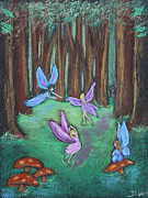 Mushroom Pastels - The Oak Grove by Diana Haronis