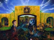 Visionary Artist Painting Originals - The Oath by Kd Neeley