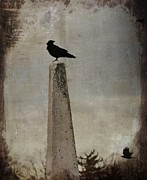 Avian Art Metal Prints - The Obelisk Metal Print by Gothicolors And Crows