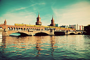 Symbol Art - The Oberbaum Bridge in Berlin Germany by Michal Bednarek