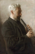 Thomas Eakins - The Oboe Player . Portrait of Dr. Benjamin Sharp by Thomas Eakins