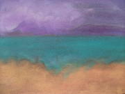 Ocean Shore Pastels Prints - The Ocean Print by Cynthea Greb