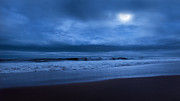 Moonscape Prints - The Ocean Moon Print by Bill  Wakeley