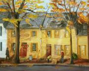 Antiques Paintings - The Ochre House by Gloria Condon