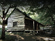 Gatlinburg Tennessee Prints - The Ogle Cabin Print by Gary Conner
