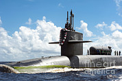 Guided Missiles Framed Prints - The Ohio-class Guided Missile Submarine Framed Print by Stocktrek Images