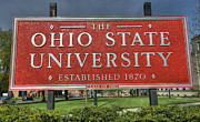 Ohio State University Prints - The Ohio State University Print by David Bearden