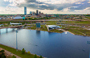 Devon Tower Photo Framed Prints - The Oklahoma River Framed Print by Cooper Ross