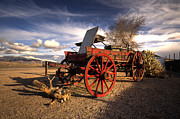 Wood Wheel Framed Prints - The Ol Wagon  Framed Print by Rob Hawkins
