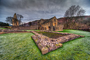 Fall Grass Prints - The Old Abbey Print by Adrian Evans