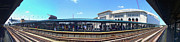 Baseball Stadium Photos - The Old and New Yankee Stadiums Panorama by Nishanth Gopinathan