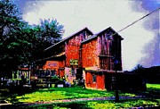 Yard Decorations Posters - The Old Antique Barn Poster by Annie Zeno
