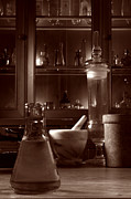 Laboratory Framed Prints - The Old Apothecary Shop Framed Print by Olivier Le Queinec