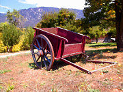 Country Scene Digital Art Prints - The Old Apple Cart Print by Glenn McCarthy Art and Photography