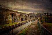 Railway Digital Art Posters - The Old Aqueduct Poster by Adrian Evans