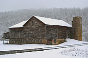 Barn Storm Prints - The Old Barn     Faded But Sturdy Print by Gene Walls
