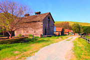 Back Road Digital Art Prints - The Old Barn 5D22271 Print by Wingsdomain Art and Photography