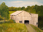 Antiques Paintings - The Old Barn by Alan Lakin