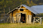 Machinery Metal Prints - The Old Barn Metal Print by Heiko Koehrer-Wagner