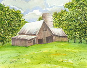 Metal Roofs Posters - The Old Barn Poster by Joel Deutsch