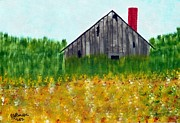 Joseph Frank Baraba Painting Prints - The Old Barn Print by Joseph Frank Baraba