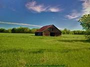 Illustrative Photo Prints - The Old Barn On Treaty Road Print by PainterArtist FIN