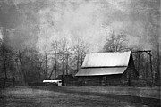 Vintage Landscape Prints - The Old Barn Print by Theresa Tahara